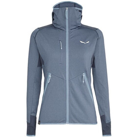 SALEWA Agner Hybrid Polarlite/Durastretch Full-Zip Hoodie Women flint stone melange
